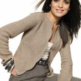 Female-Model-in-Golden-Khaki-Blazer-Clothing