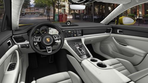 2019 Porsche Panamera Turbo S E-Hybrid Sport Turismo in White Interior