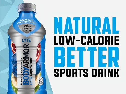 BODYARMOR LYTE Sports Drink Low Calorie Beverage Blueberry Pomegranate 12 CT 3