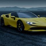 Ferrari-SF90-Stradale---Custom-Yellow-Exterior-Night