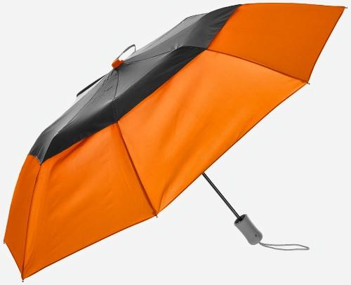 New-Vented-Graphite-Crown-Orange-Folding-Umbrella-Windproof-1.jpg