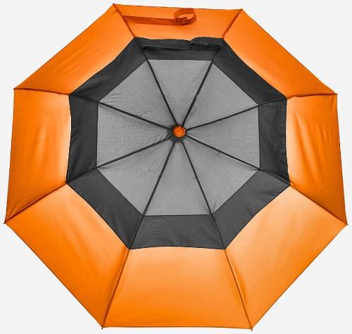 New-Vented-Graphite-Crown-Orange-Folding-Umbrella-Windproof-2.jpg