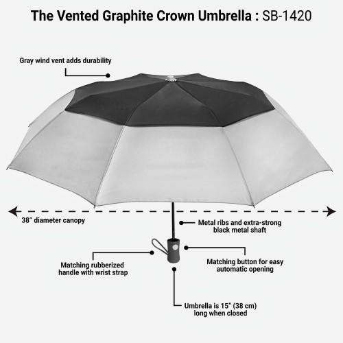 New-Vented-Graphite-Crown-Orange-Folding-Umbrella-Windproof-4.jpg